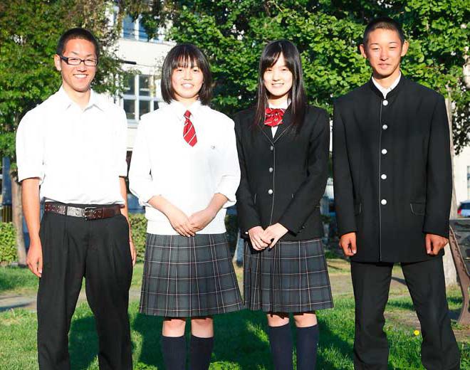札幌新川高等学校制服画像